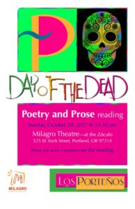 Portland: Day of the Dead Reading featuring Cindy Williams-Gutierrez @ Milagro's Zócalo  | Portland | Oregon | United States